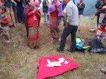 distribution dans les villages région de Gorkha